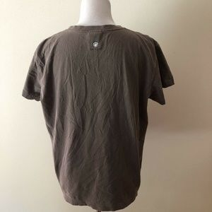 Life Is Good Tops - Life Is Good brown T with multi colors - womens L